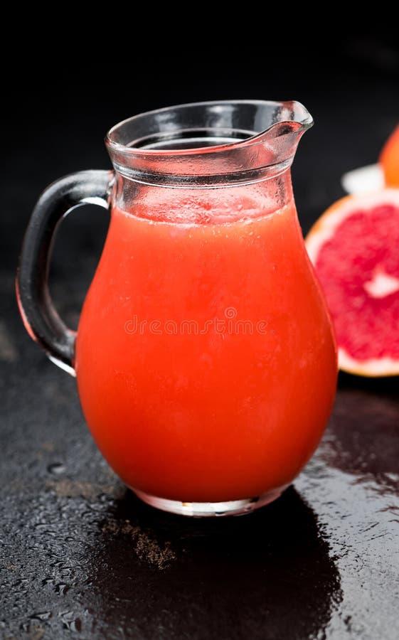 Freshly squeezed Grapefruit Juice selective focus royalty free stock photo