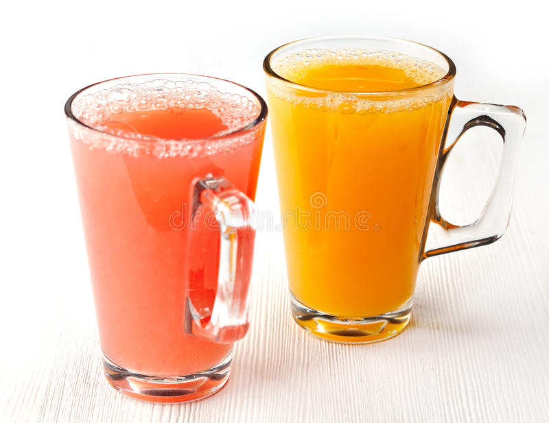 Freshly squeezed juice stock images