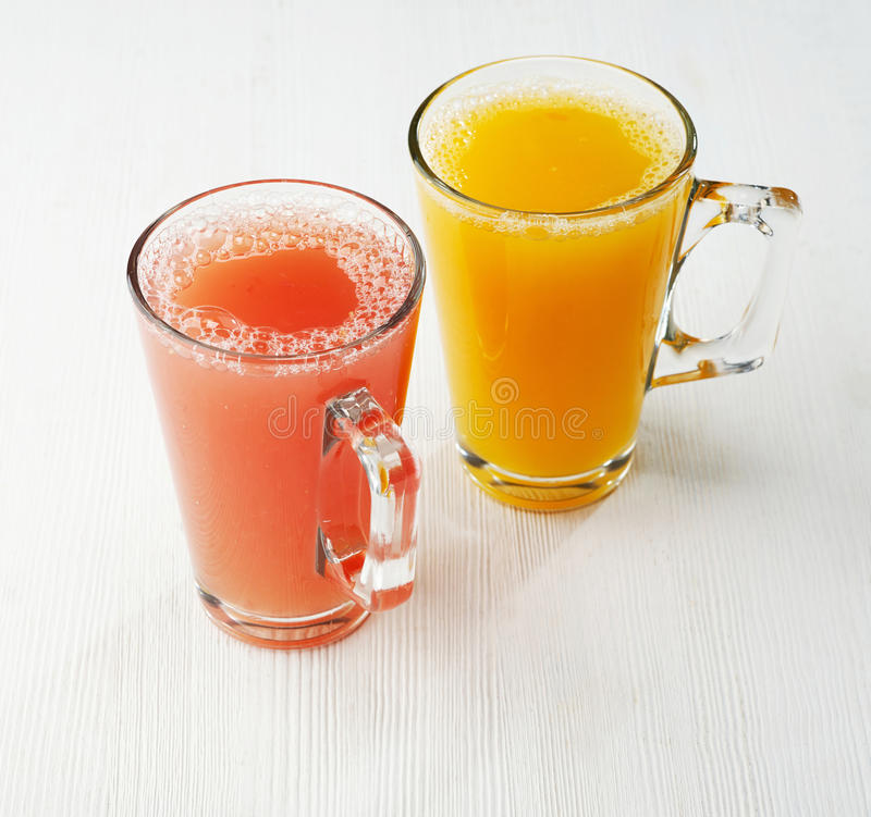 Freshly squeezed juice stock photography