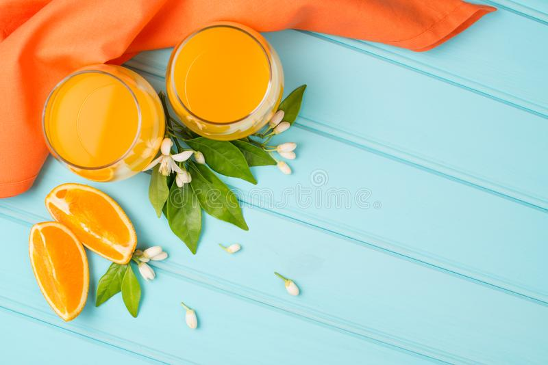 Freshly squeezed orange juice royalty free stock photo