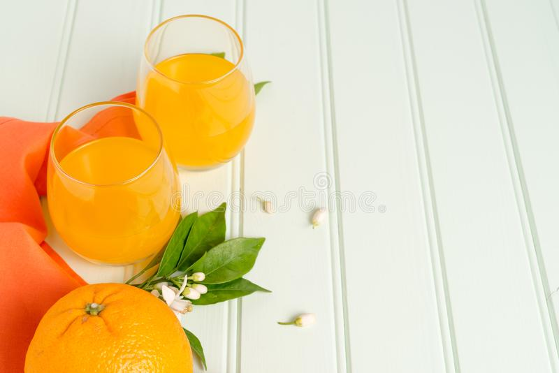 Freshly squeezed orange juice stock photo