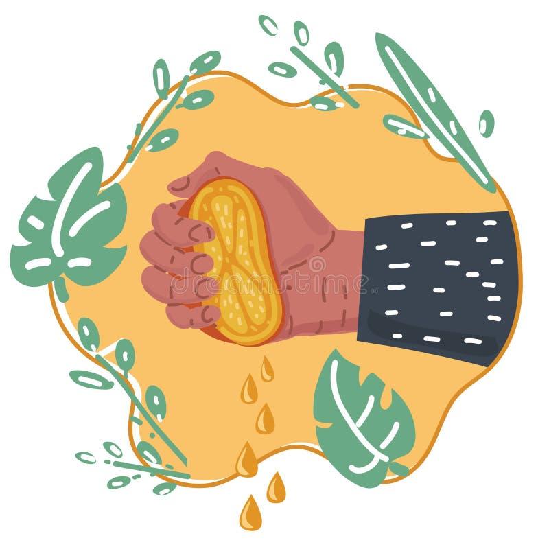Freshly Squeezed Orange Juice vector illustration