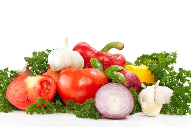 Freshness vegetables prepped royalty free stock images