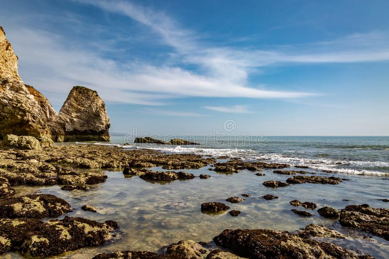 Freshwater Bay at Low Tide royalty free stock images