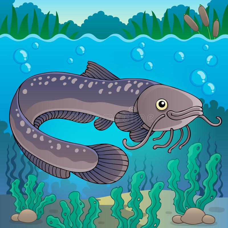 Freshwater fish topic image 2. Eps10 vector illustration stock illustration