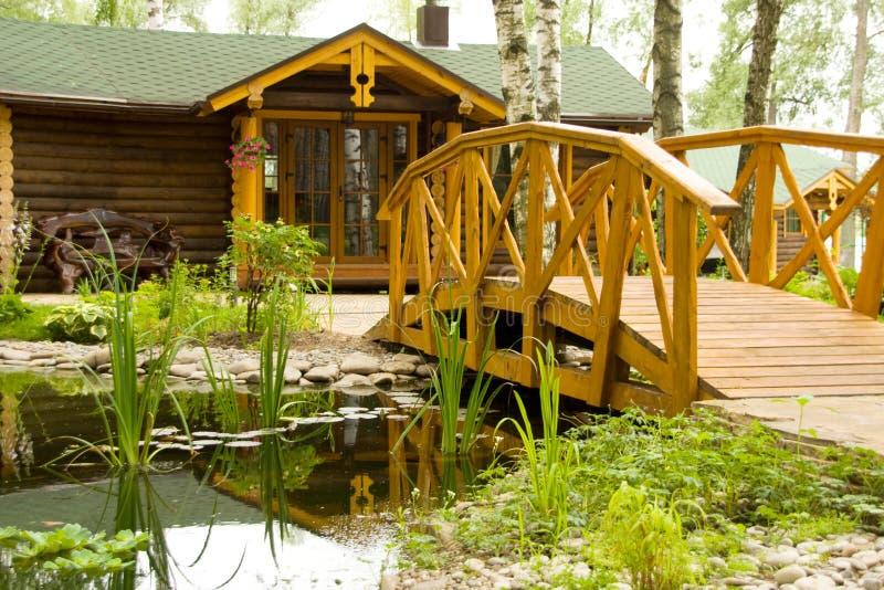 Freshwater Marsh With Bridge Stock Photography