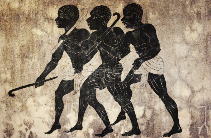 fresk myśliwi ilustracja wektor