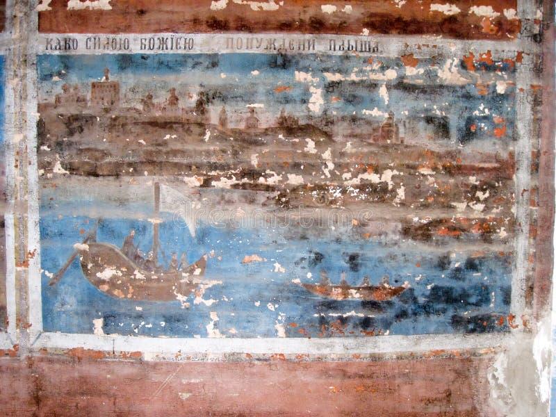 fresk stary obraz stock