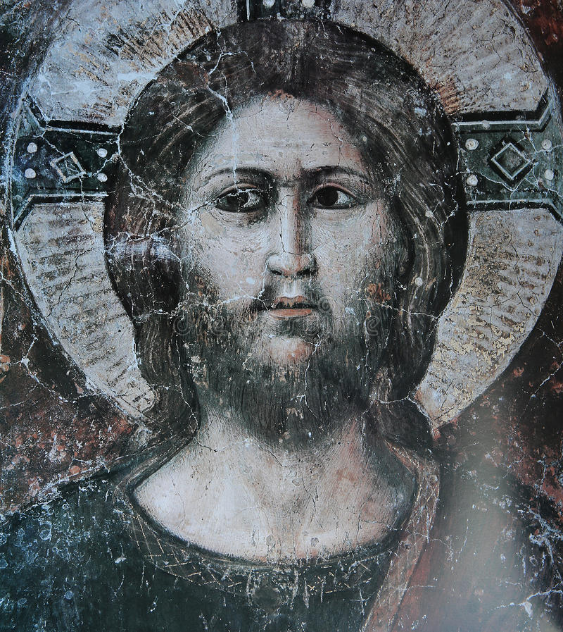 Fresko in den Basilikadi Santa Cecilia in Trastevere, Rom, Italien lizenzfreie stockbilder