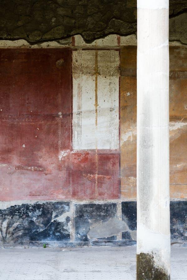 Fresko in Landhaus oplontis lizenzfreies stockbild