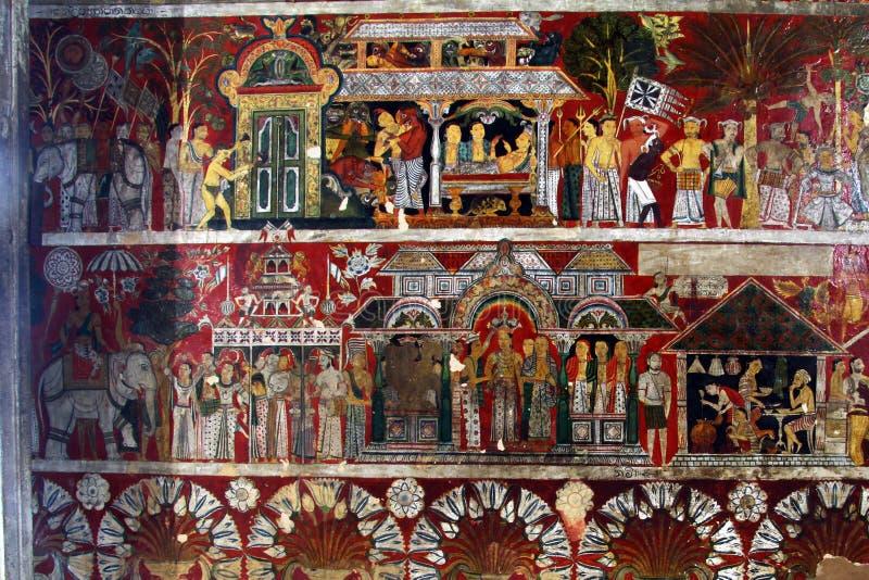 Fresko op de muur stock afbeelding
