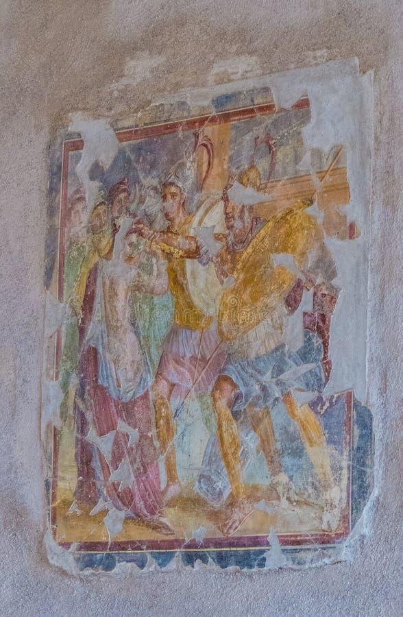 Fresko in Pompei, Italië royalty-vrije stock fotografie