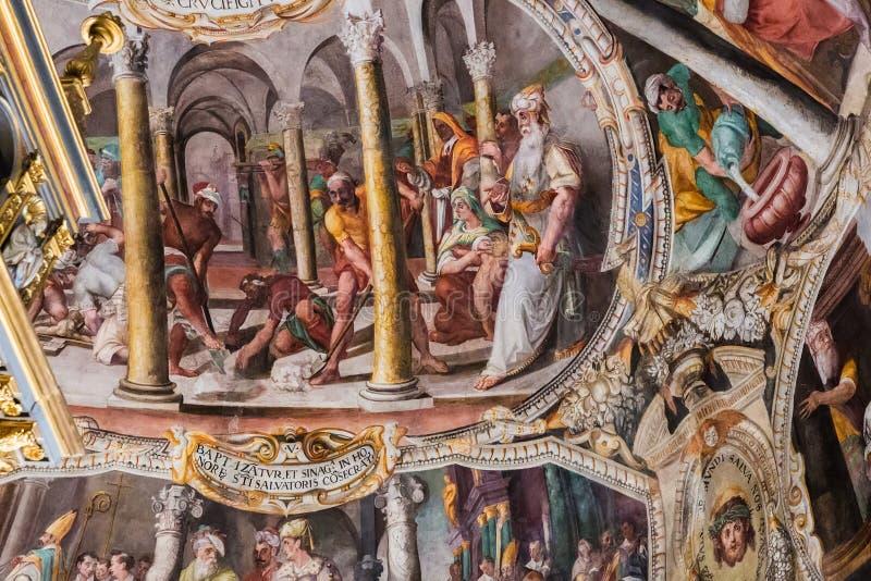 Fresko's door Giacomo Coppi in de basiliek San Pietro in Vincoli royalty-vrije stock foto's