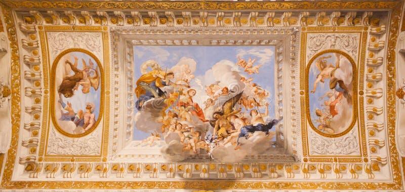 Fresko's Palazzo Pitti - Florence royalty-vrije stock foto