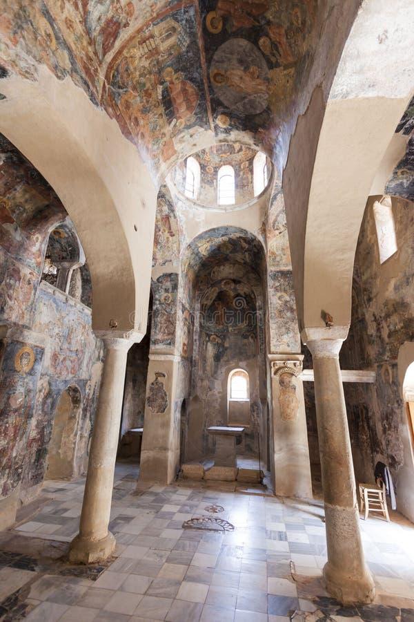 Fresko's van Mystras van het Peribletos de Byzantijnse Klooster royalty-vrije stock afbeelding