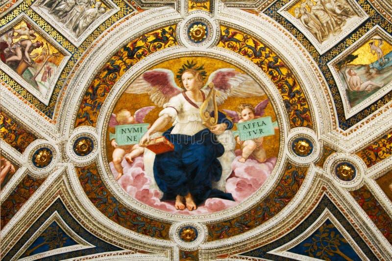 Fresko van Raphael, stanza 4 stock afbeeldingen