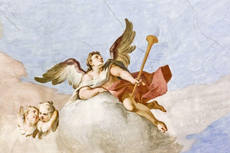 Fresko Wieskirche stock afbeelding