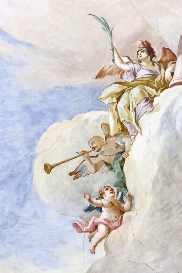 Fresko Wieskirche royalty-vrije stock afbeelding