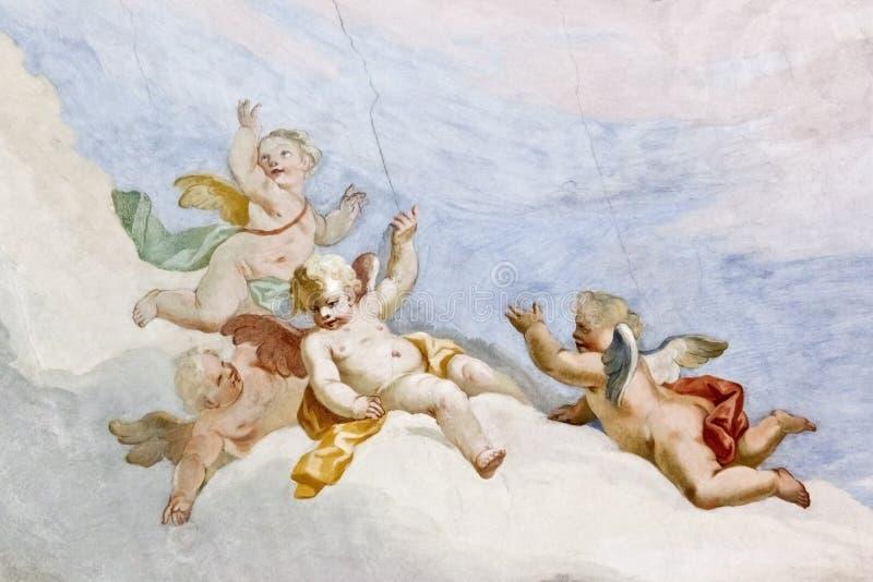 Fresko Wieskirche royalty-vrije stock foto
