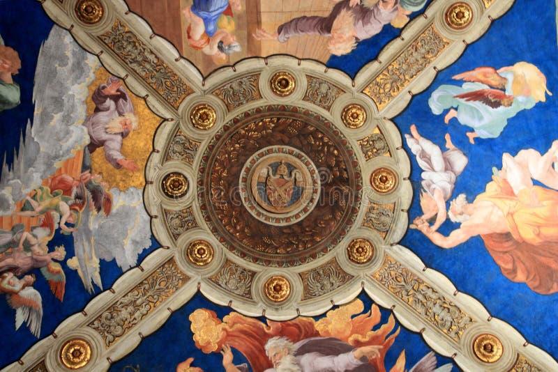 Freskodecke in Vatikan-Museum, Rom, Italien stockbilder