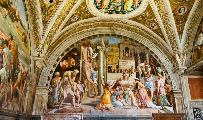 Freskokirche in Rom stockbilder