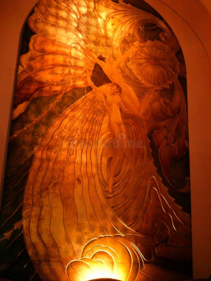 Freskomålningar för milleniumBiltmore hotell royaltyfria bilder