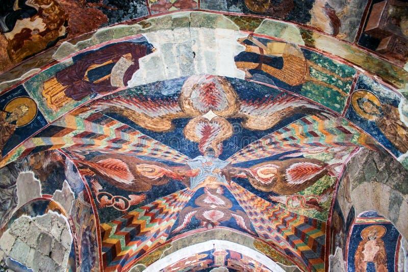 Freskos in der Kirche von Hagia Sophia lizenzfreie stockbilder