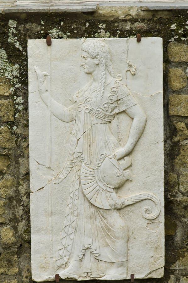 fresku Herculaneum kobieta zdjęcia royalty free
