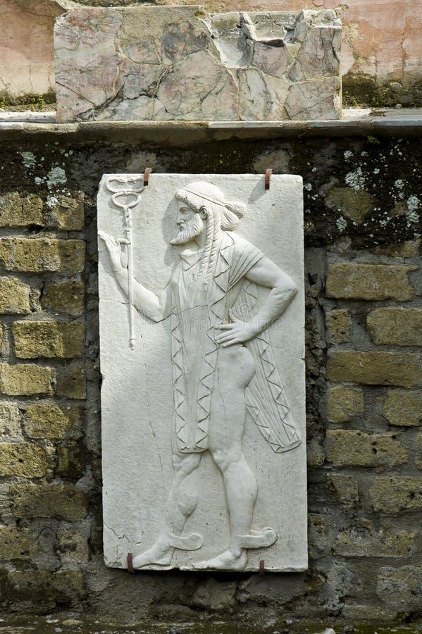 fresku Herculaneum mężczyzna fotografia stock