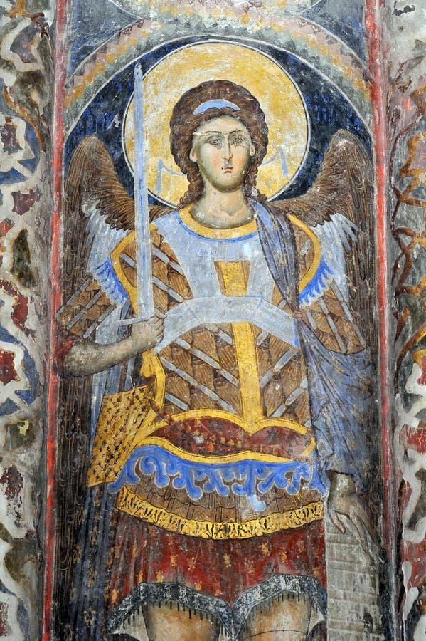 Fresku obraz w monasterze Manasija blisko Despotovac, Serbia zdjęcie stock