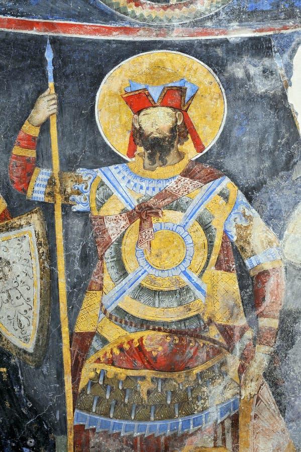 Fresku obraz w monasterze Manasija blisko Despotovac, Serbia obrazy stock