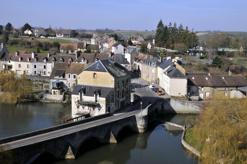 Fresnay su Sarthe in Francia fotografia stock