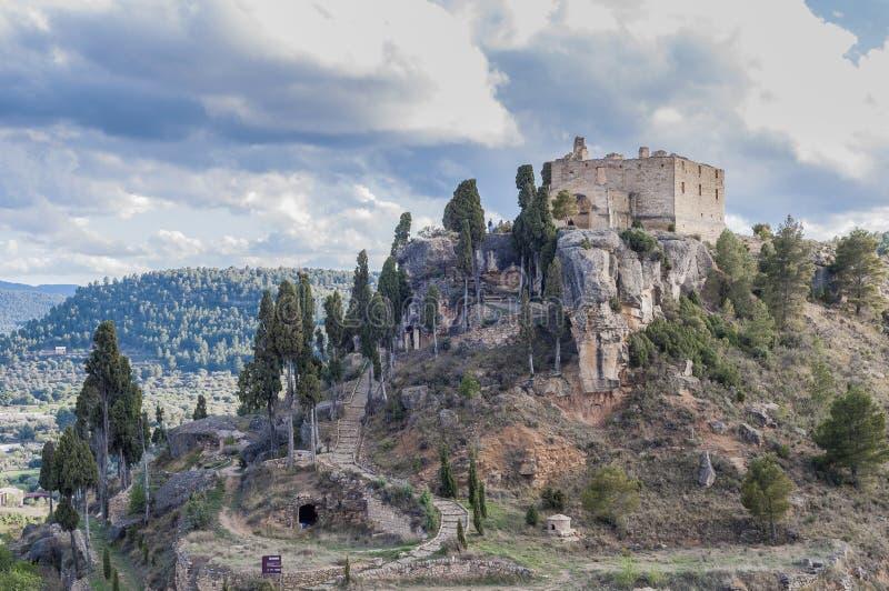 fresneda χωριό Λα Ισπανία teruel στοκ εικόνες