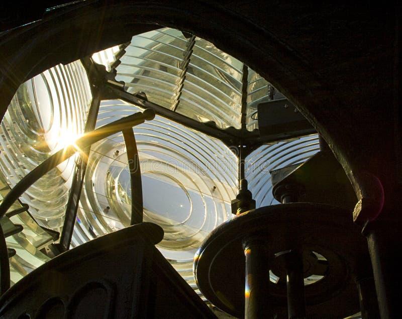 Fresnel Lens - Pensacola fyr arkivbilder