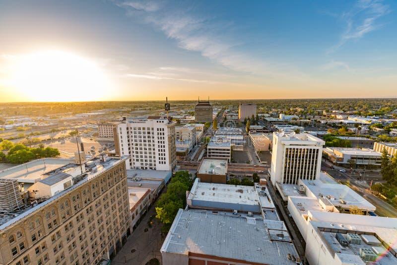 Fresno California. Downtown view of Fresno, California stock image