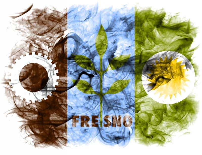 Fresno city smoke flag, California State, United States Of America.  royalty free stock images