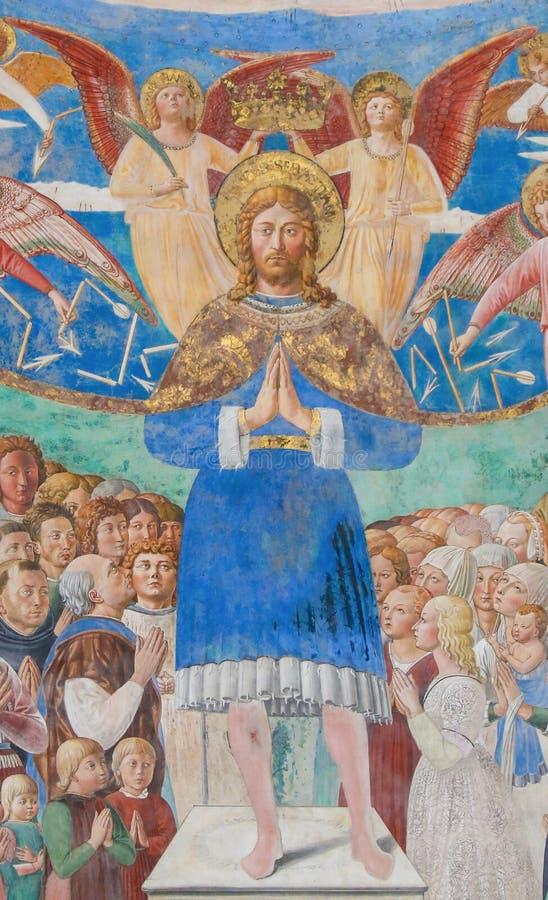 Fresque à San Gimignano, Italie photo stock