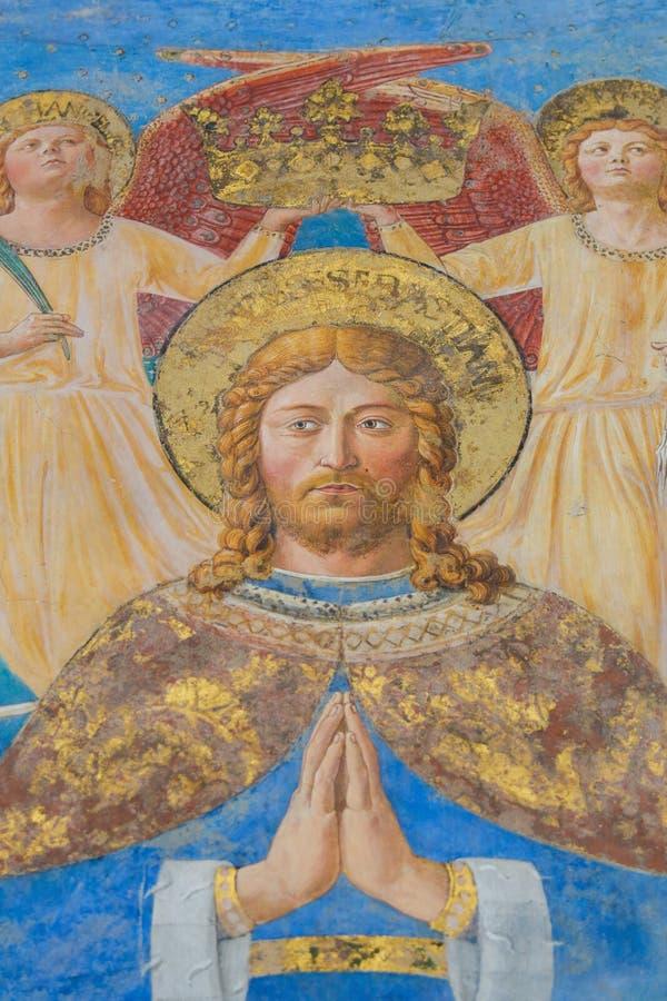 Fresque à San Gimignano, Italie photos libres de droits