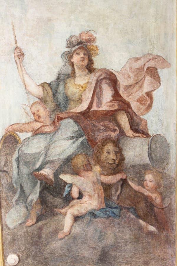 Fresque avec Athéna photos libres de droits