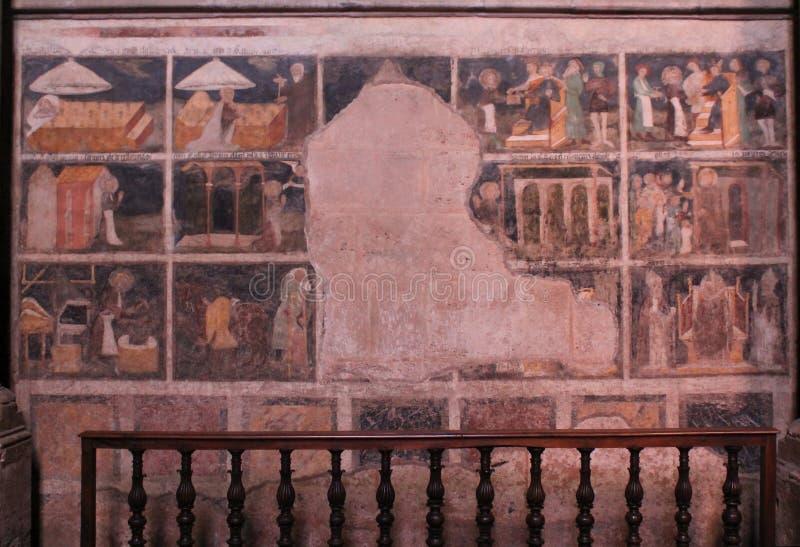 Fresque Cathedrale Notre-Dame, Rodez (Frankrike) fotografering för bildbyråer