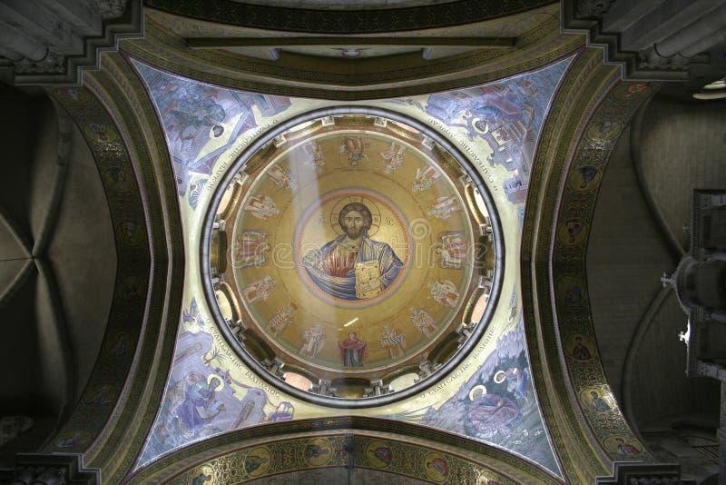 Fresque de Jésus dans l'église photographie stock libre de droits