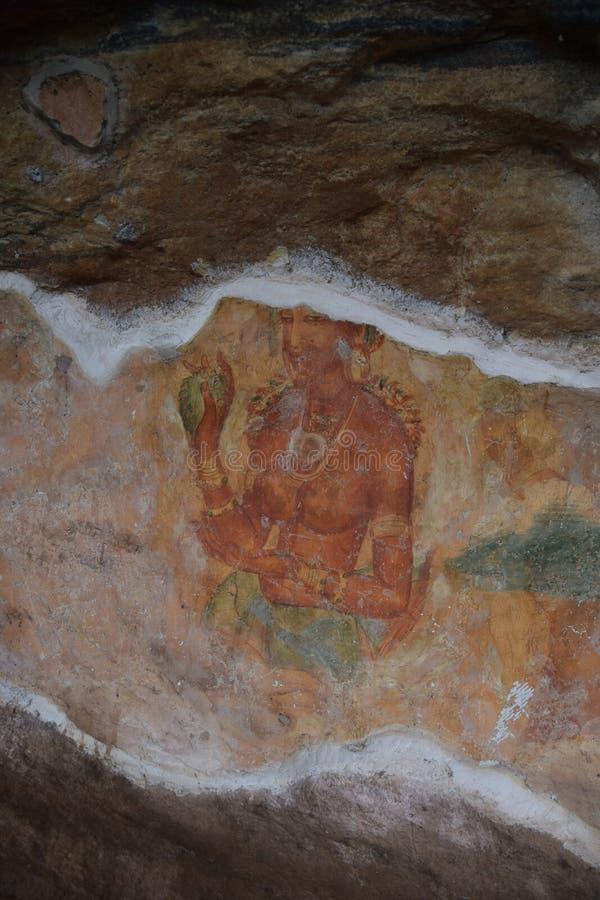 Fresque de jeunes filles de Sigiriya photos libres de droits