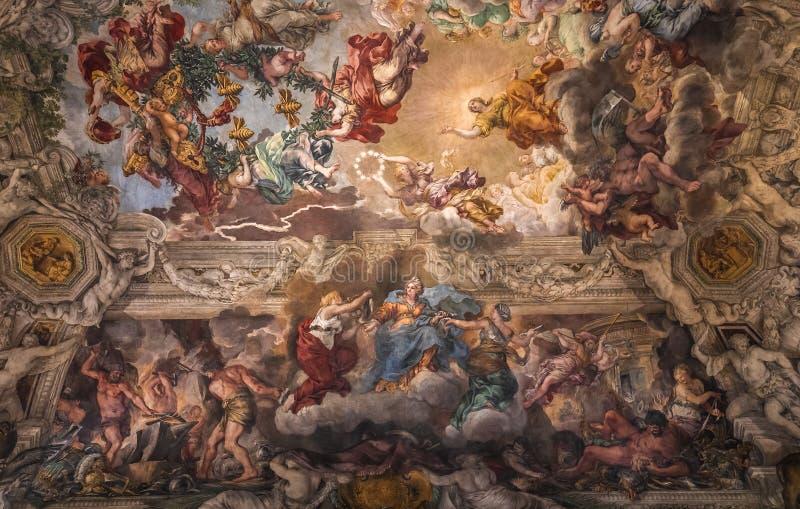 Fresque de plafond dans Palazzo Barberini, Rome, Italie photo libre de droits