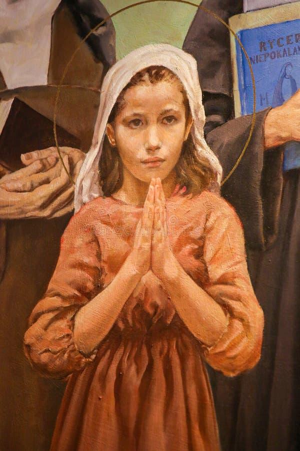 Fresque de saint Maria Goretti photographie stock libre de droits