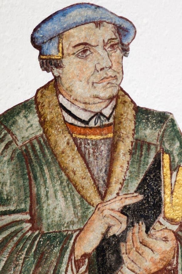 Fresque du réformateur allemand Martin Luther photographie stock