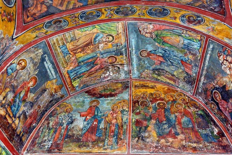 Fresque mural en Roumanie photos stock