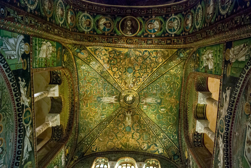 Fresques à Ravenne photos libres de droits