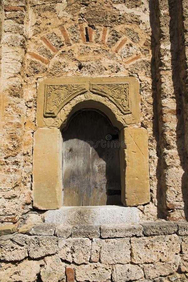 Fresques antiques dans des murs de complexe de monastère dans Zemen, Bulgarie images stock