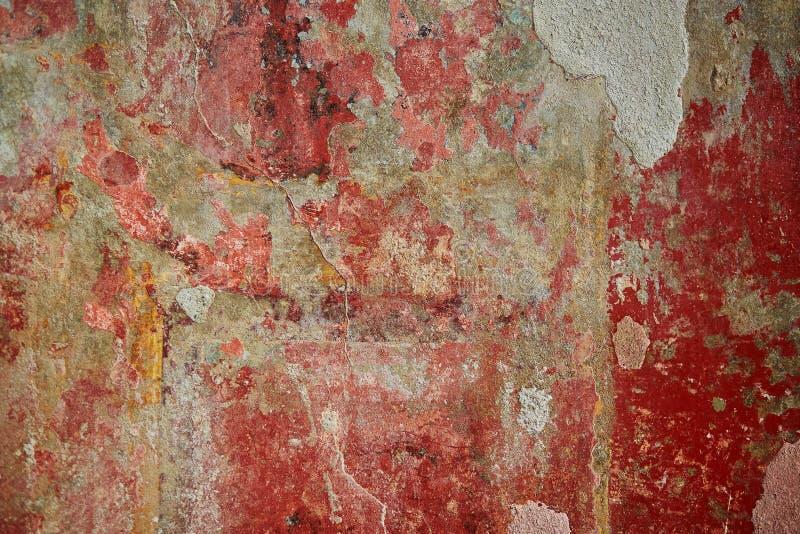 Fresques antiques de peintures de mur de couleur à Pompeii, Italie photos libres de droits