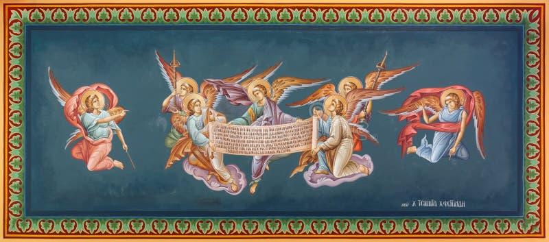 Fresques bizantins photos libres de droits